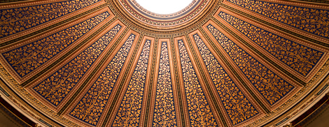 Ceiling of the Grand Auditorium in Uppsala.